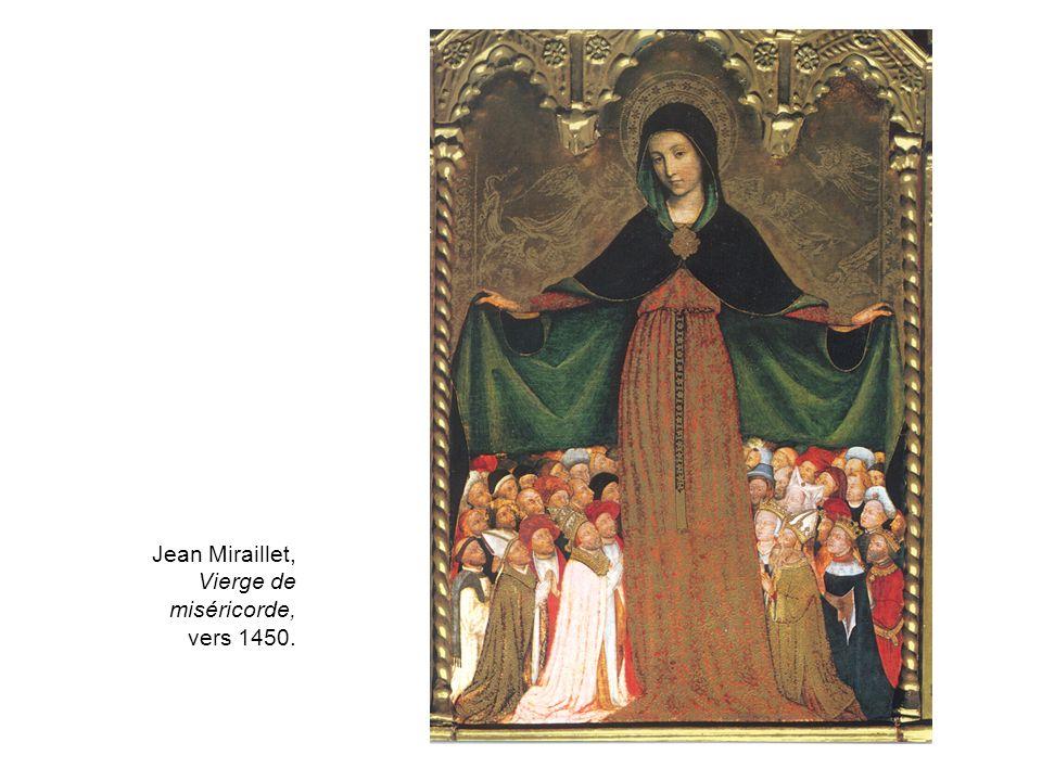 Jean Miraillet, Vierge de miséricorde, vers 1450.