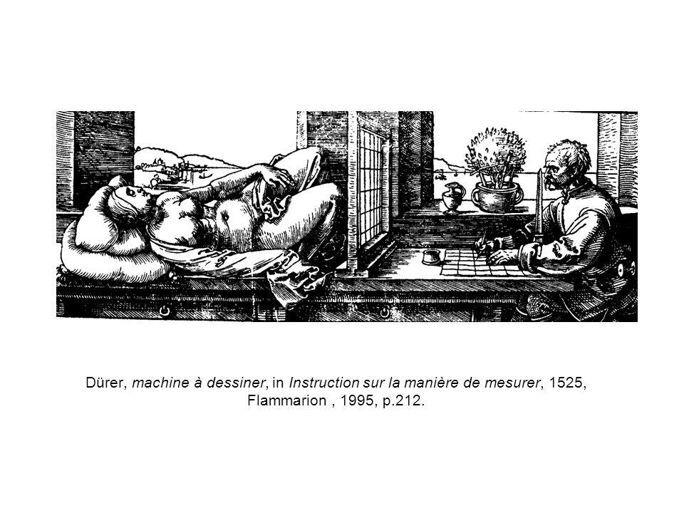 Dürer, machine à dessiner, in Instruction sur la manière de mesurer, 1525, Flammarion, 1995, p.212.