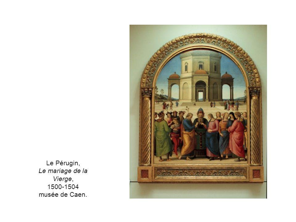Le Pérugin, Le mariage de la Vierge, 1500-1504 musée de Caen.