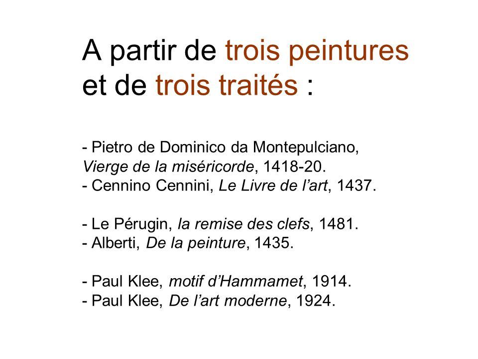 Pérugin : - La tableau souligne la prédominance du savoir théorique.
