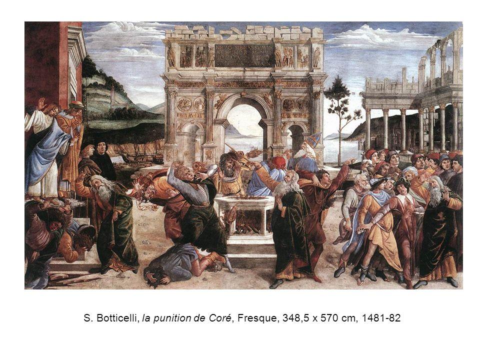 S. Botticelli, la punition de Coré, Fresque, 348,5 x 570 cm, 1481-82