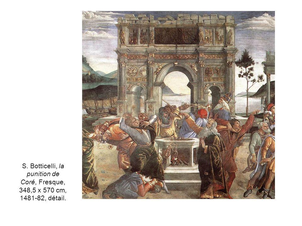 S. Botticelli, la punition de Coré, Fresque, 348,5 x 570 cm, 1481-82, détail.