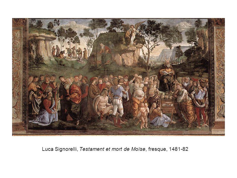Luca Signorelli, Testament et mort de Moïse, fresque, 1481-82