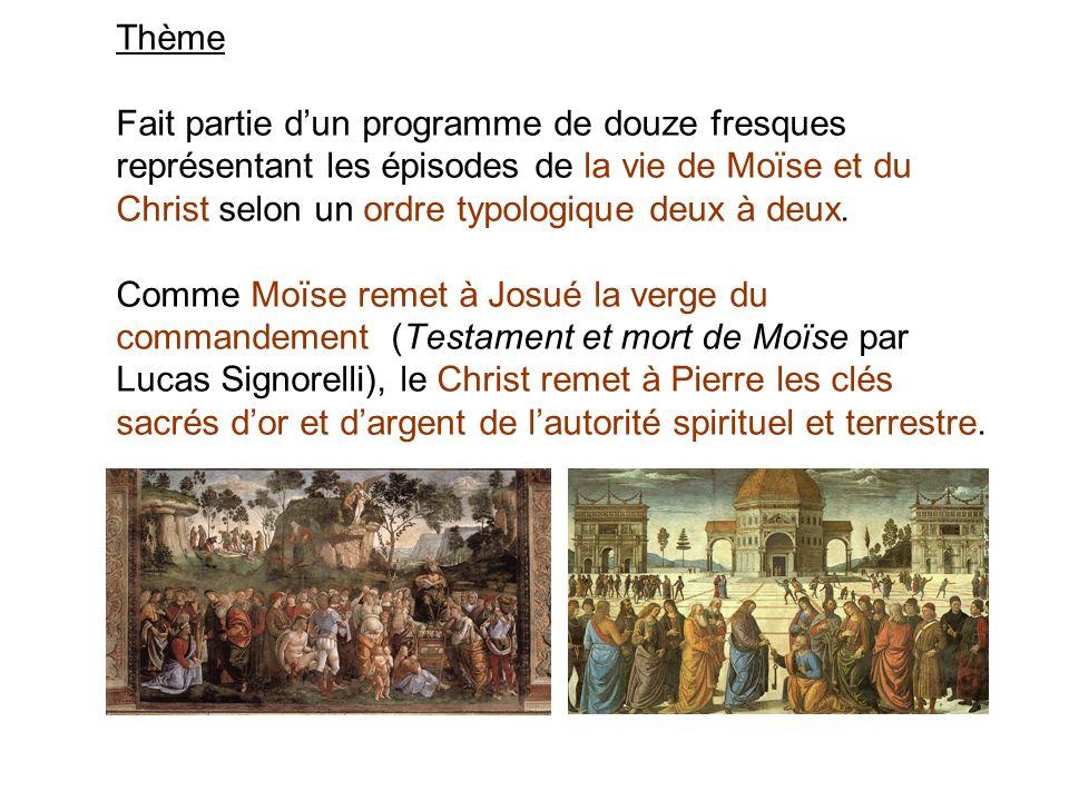 Thème Fait partie dun programme de douze fresques représentant les épisodes de la vie de Moïse et du Christ selon un ordre typologique deux à deux. Co