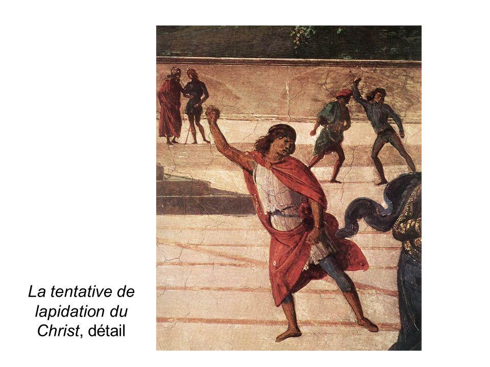 La tentative de lapidation du Christ, détail