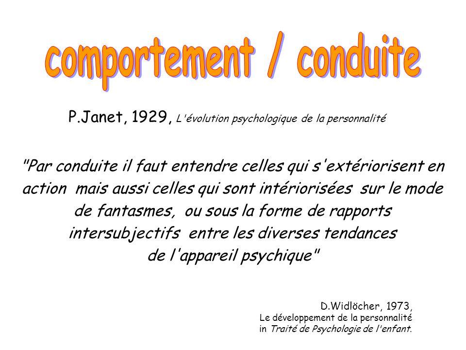 P.Janet, 1929, L'évolution psychologique de la personnalité