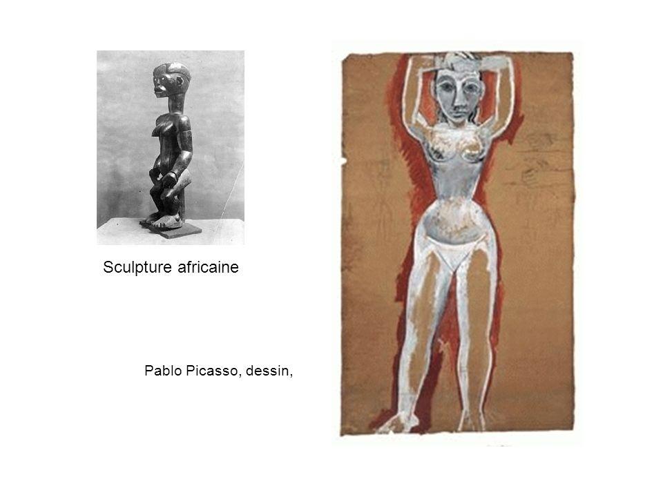 Pablo Picasso, dessin, Sculpture africaine