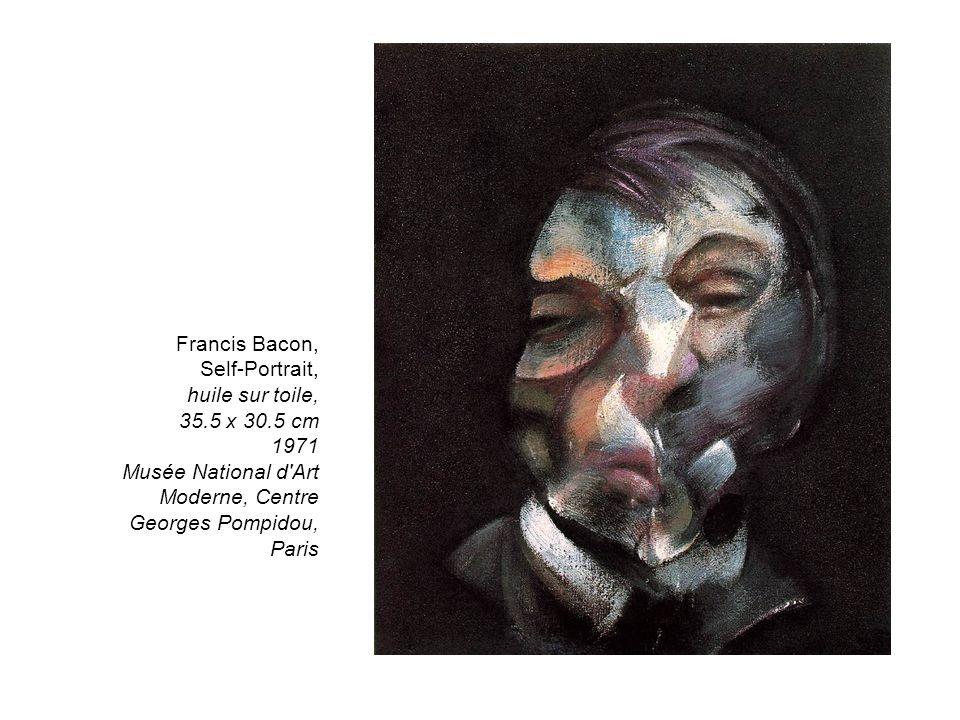 Francis Bacon, Self-Portrait, huile sur toile, 35.5 x 30.5 cm 1971 Musée National d'Art Moderne, Centre Georges Pompidou, Paris