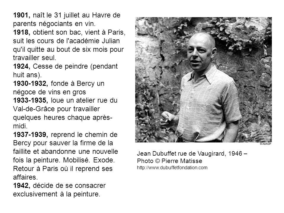 1901, naît le 31 juillet au Havre de parents négociants en vin. 1918, obtient son bac, vient à Paris, suit les cours de l'académie Julian qu'il quitte