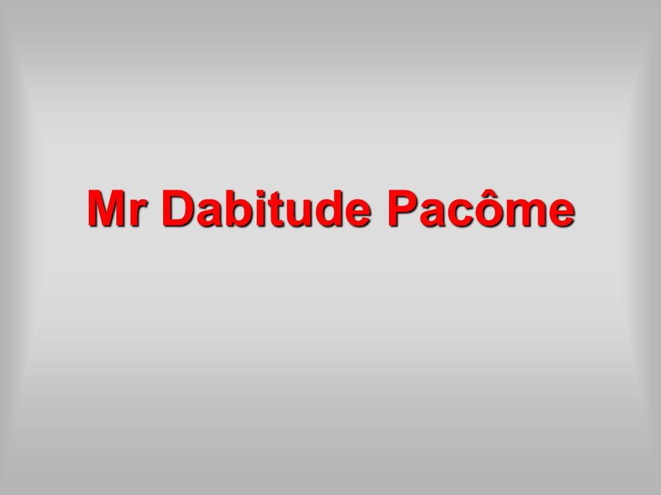 Mr Dabitude Pacôme
