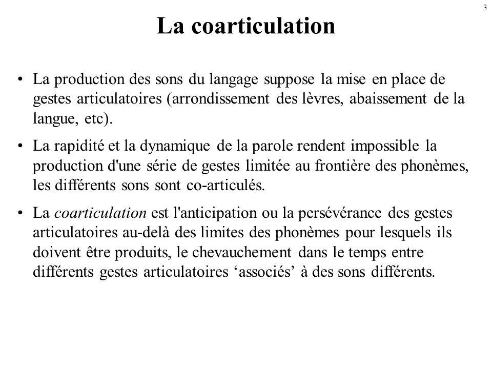 2 La variation contextuelle Jusquà présent : description articulatoire et acoustique des sons du français sous leur forme « prototypique, canonique ».