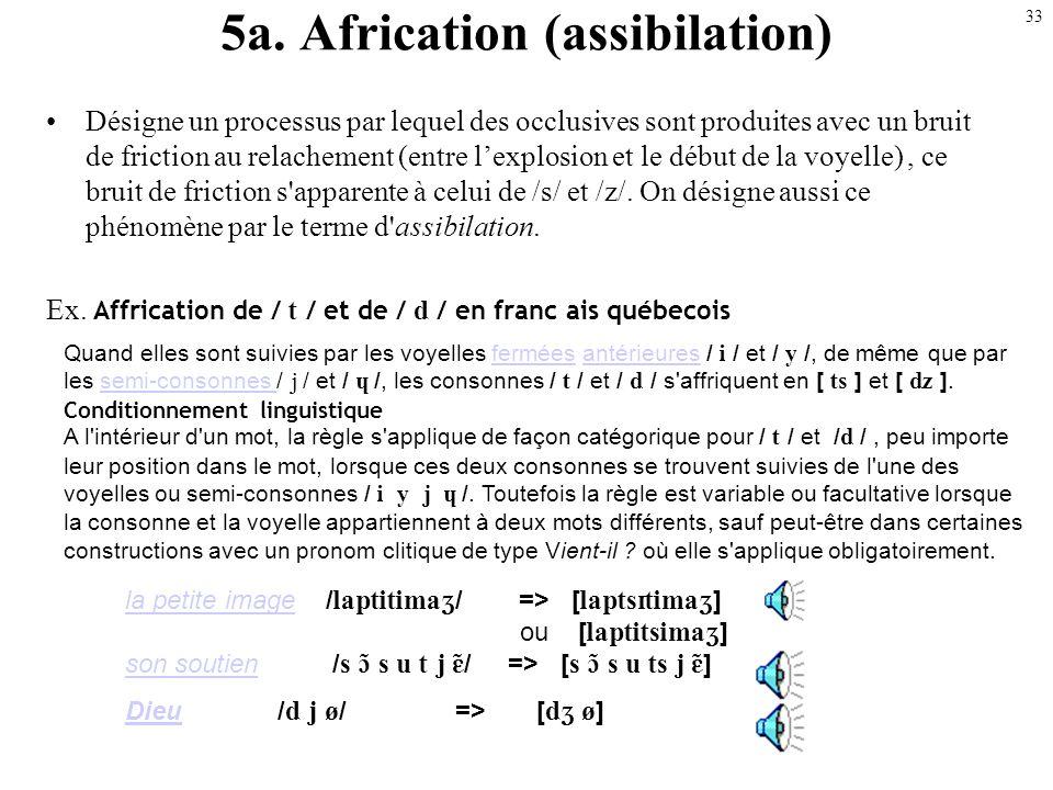 32 (Vélarisation) Description du phénomène La consonne / / est vélarisée en / / lorsqu'elle apparaît en position finale de syllabe. Symbole phonétique