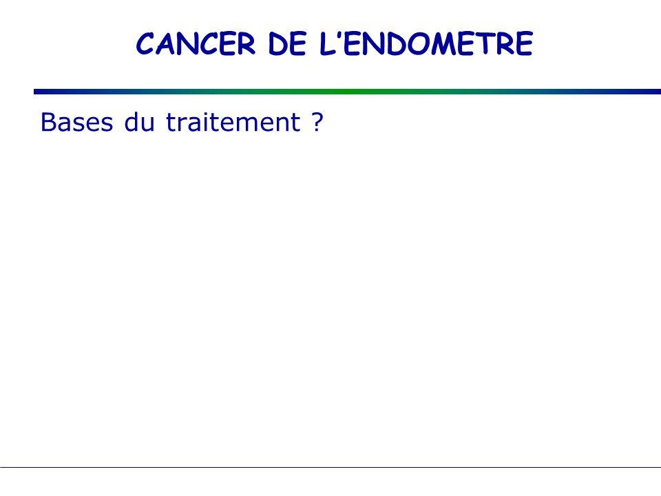 CANCER DE LENDOMETRE Bases du traitement ?