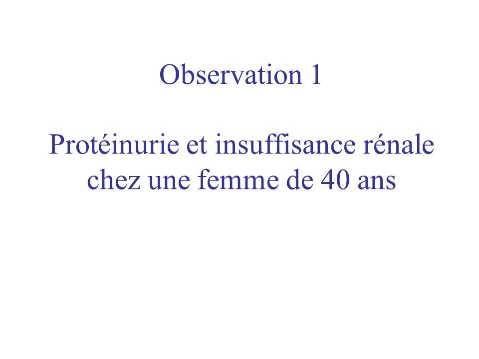 Mme Ber…, 40 ans, est adressée par la médecine du travail pour la détection dune protéinurie (3+) et dune hématurie (3+) décelées à loccasion dexamen systématique.