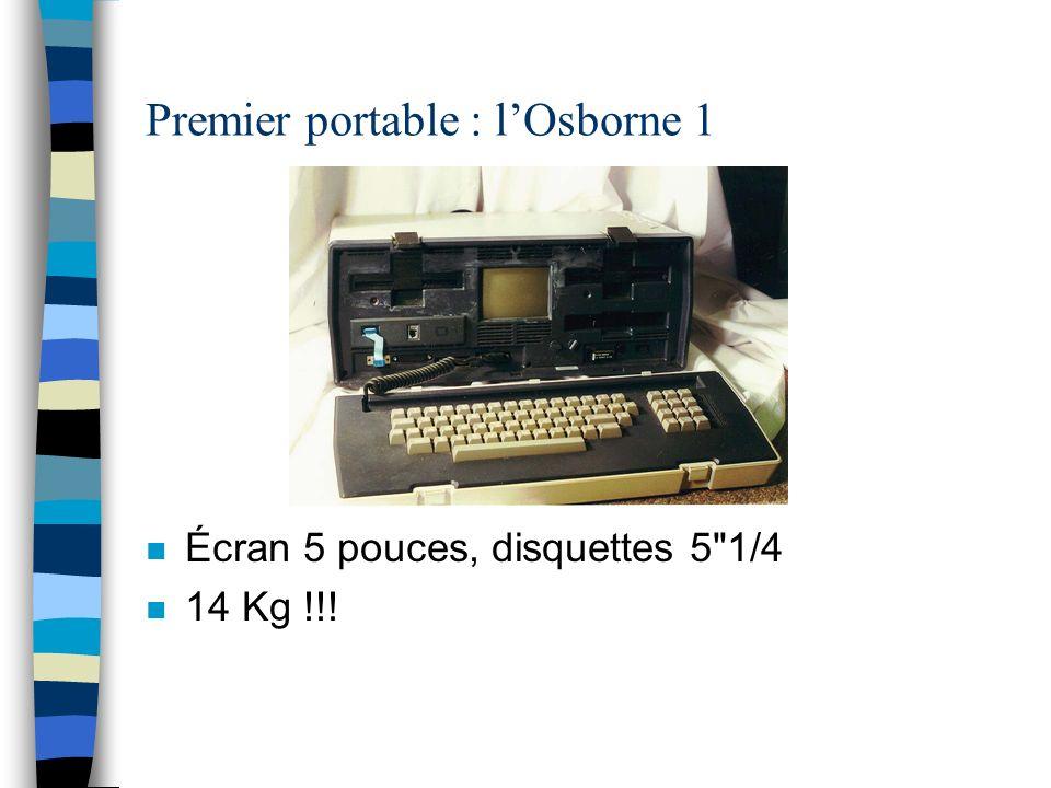 Premier portable : lOsborne 1 n Écran 5 pouces, disquettes 5 1/4 n 14 Kg !!!
