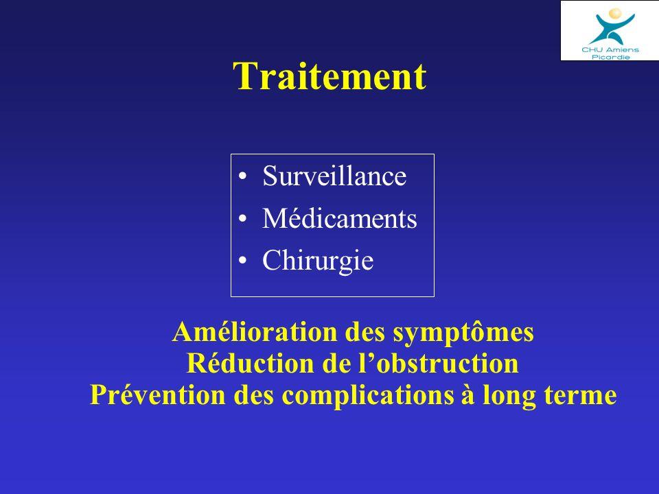 Traitement Surveillance Médicaments Chirurgie Amélioration des symptômes Réduction de lobstruction Prévention des complications à long terme