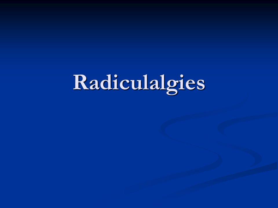 Radiculalgies