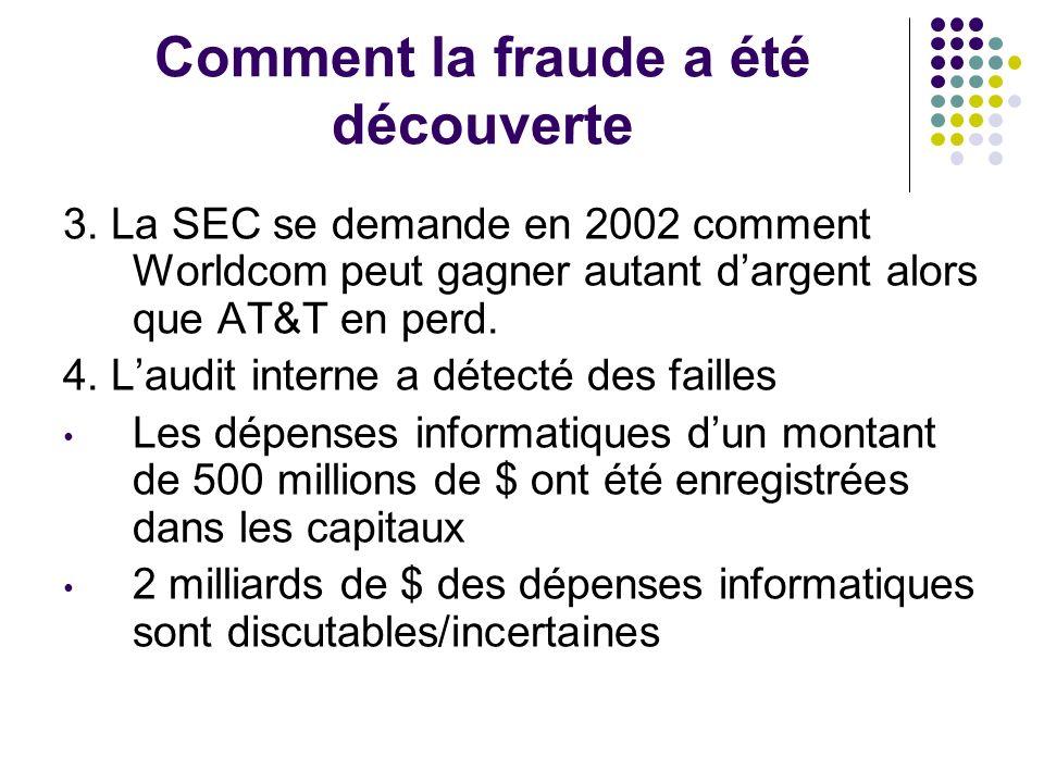 Comment la fraude a été découverte 3.