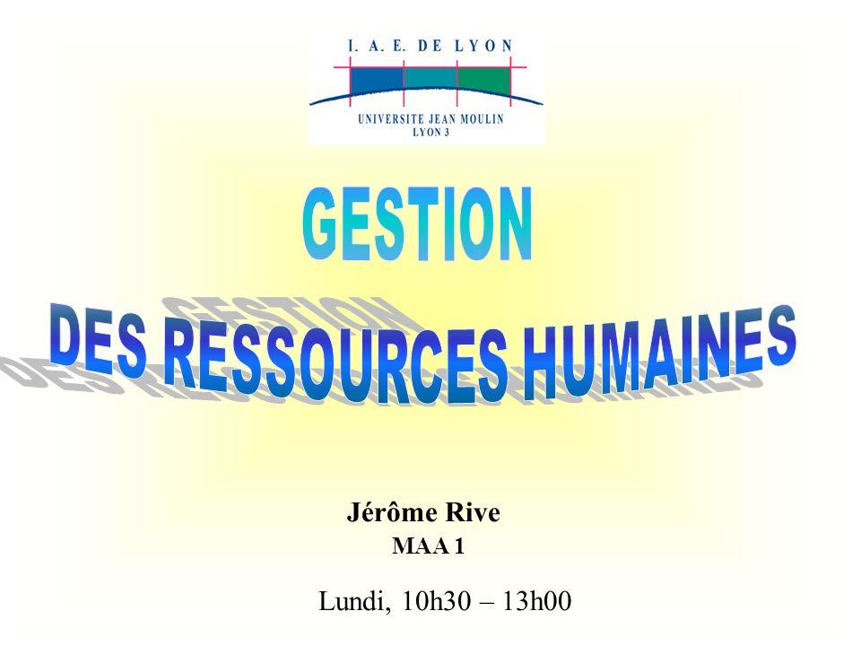 Jérôme Rive MAA 1 Lundi, 10h30 – 13h00
