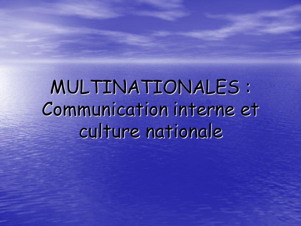 Sommaire 1- La communication dans une entreprise internationale : au niveau théorique 2- Linformation et la communication en pratique 3- Bilan et perspectives : vers une typologie