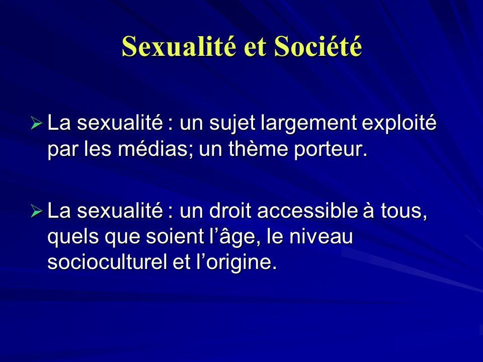 Sexualité et Société La sexualité : un sujet largement exploité par les médias; un thème porteur. La sexualité : un sujet largement exploité par les m