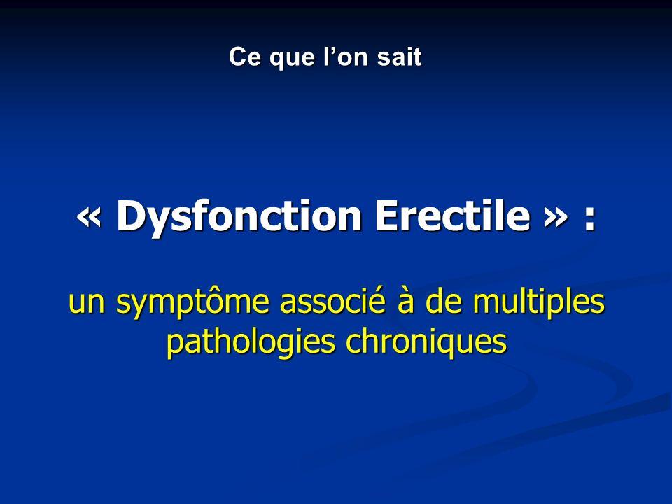 « Dysfonction Erectile » : un symptôme associé à de multiples pathologies chroniques Ce que lon sait