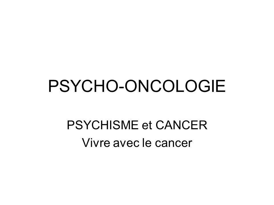 PLAN Définition de la psycho-oncologie Impacts majeurs du cancer sur la vie de la personne Intrication maladie-psychologie Etude de cas Origine du cancer.