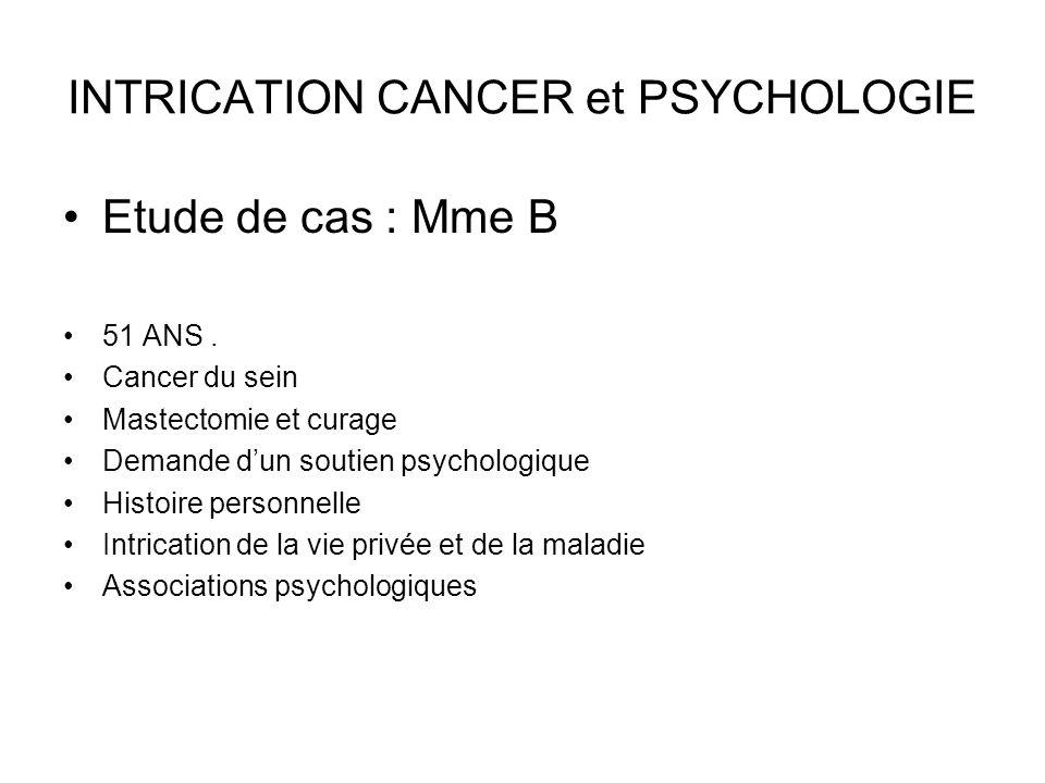 PAROLES de Mme B « Avec mon cancer, lopération.