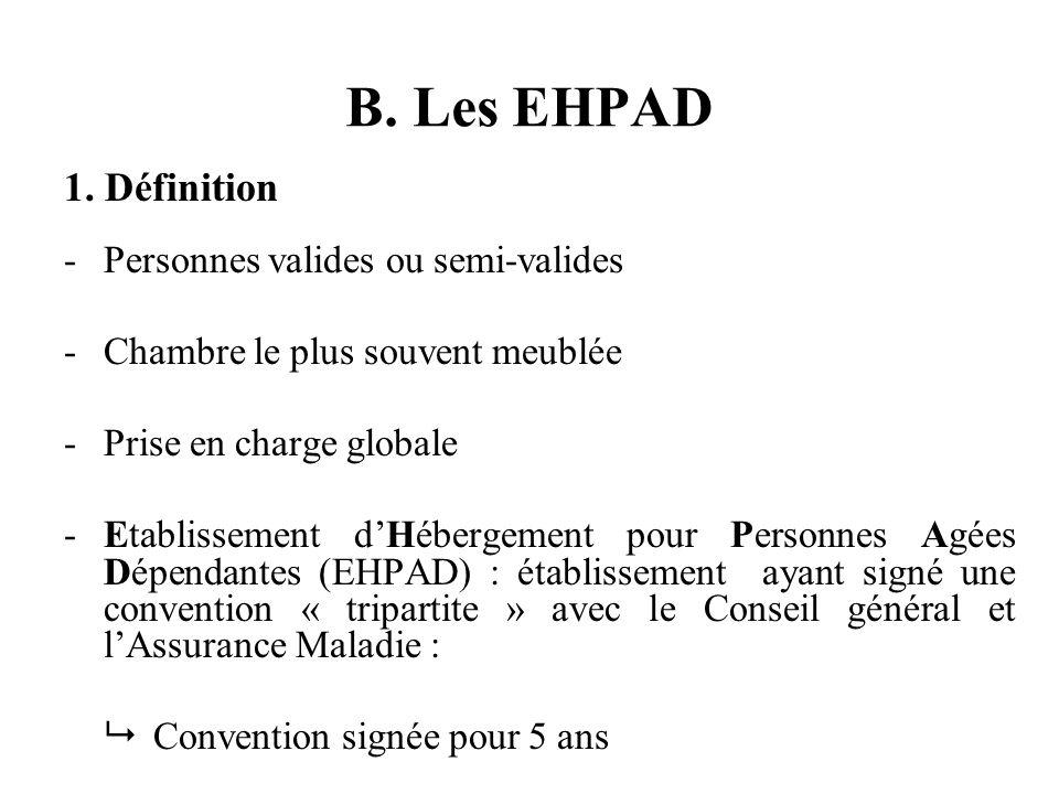 B. Les EHPAD 1.