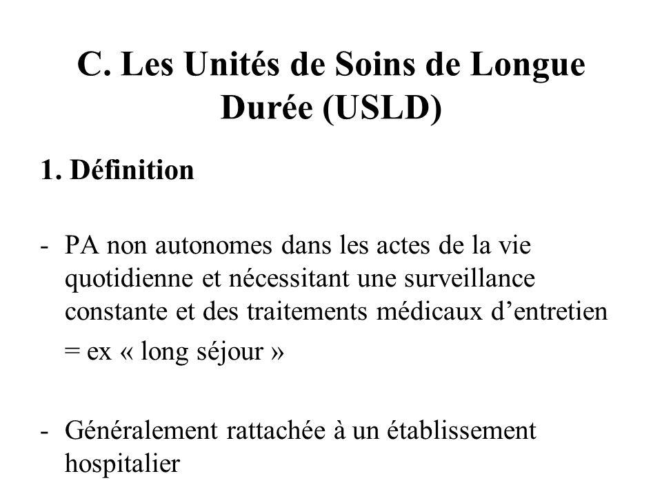 C. Les Unités de Soins de Longue Durée (USLD) 1.
