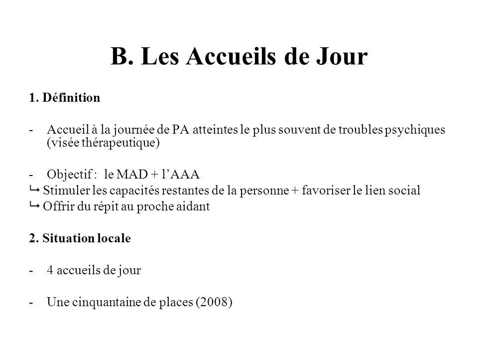 B. Les Accueils de Jour 1.