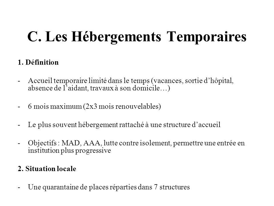 C. Les Hébergements Temporaires 1.