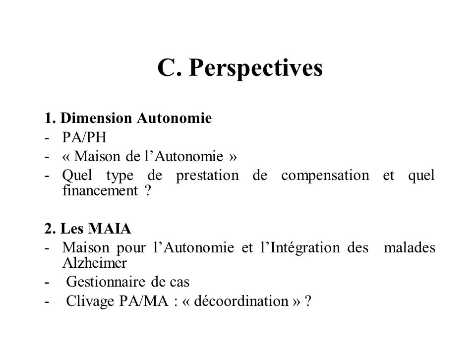 C. Perspectives 1.