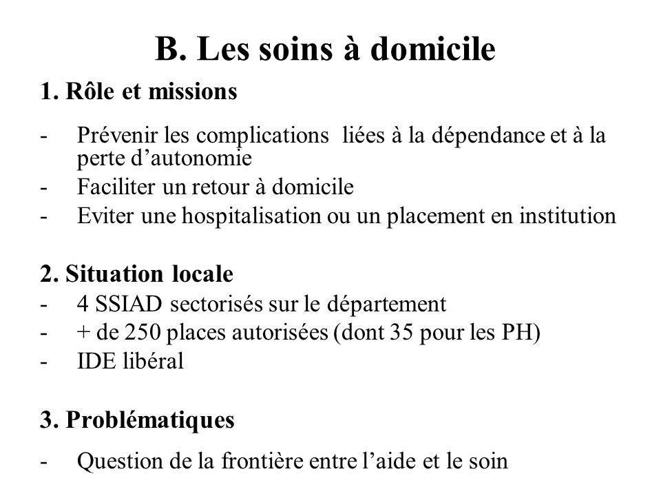 B.Exemple de coordination : la mise en place des CLIC (suite) 3.
