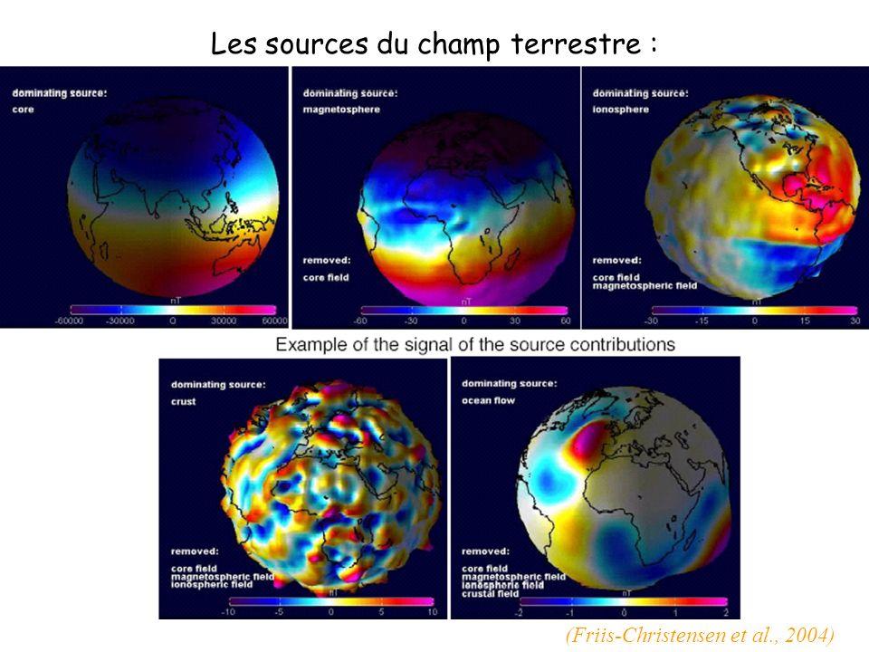 Les sources du champ terrestre : (Friis-Christensen et al., 2004)