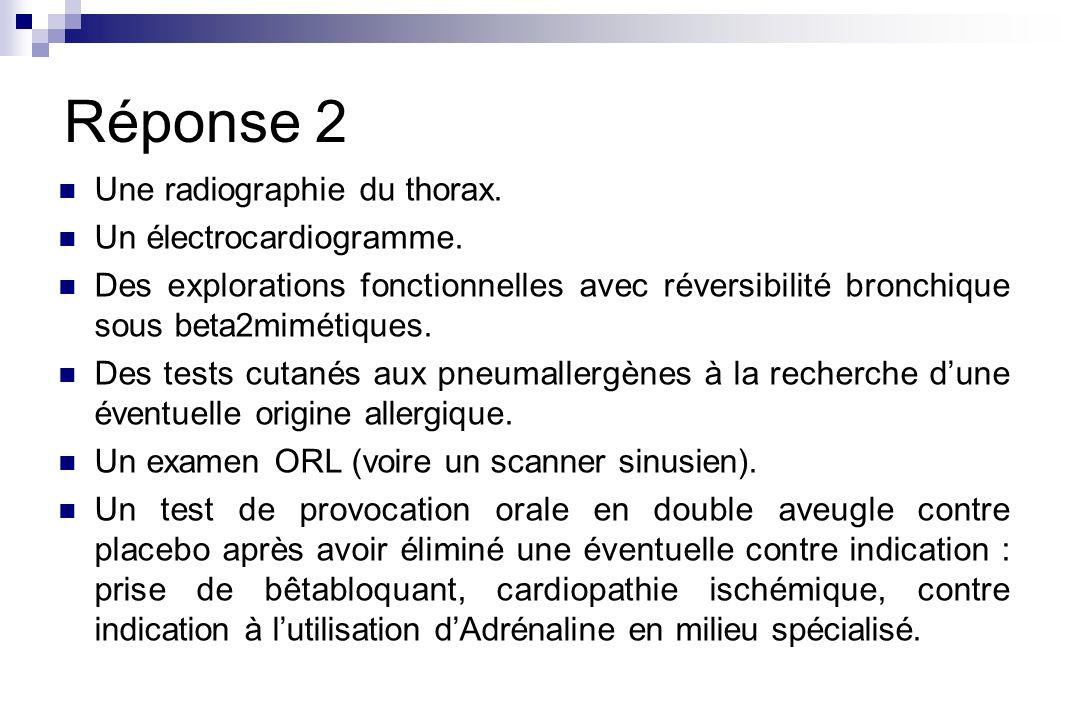 Question 4 Quel traitement préventif proposez-vous pour les symptômes respiratoires ?