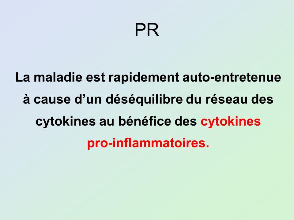 PR La maladie est rapidement auto-entretenue à cause dun déséquilibre du réseau des cytokines au bénéfice des cytokines pro-inflammatoires.