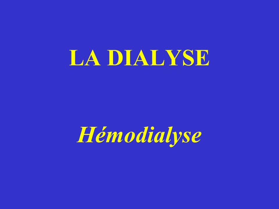 LA DIALYSE Hémodialyse
