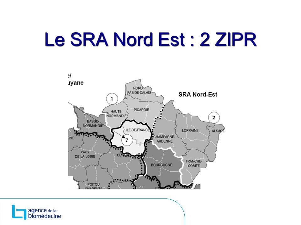 Le SRA Nord Est : 2 ZIPR