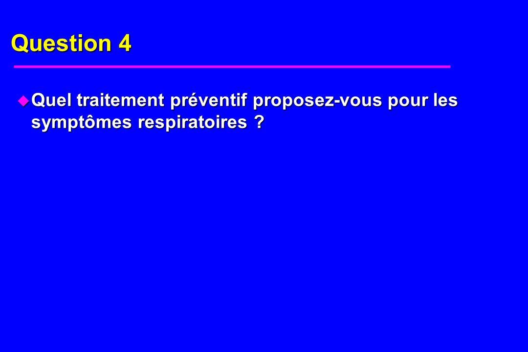 Réponse 4 u Désensibilisation par voie sublinguale ou sous cutanée.