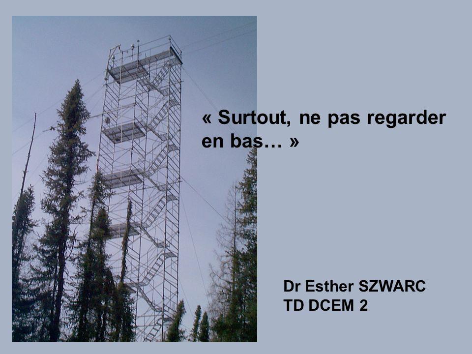 « Surtout, ne pas regarder en bas… » Dr Esther SZWARC TD DCEM 2