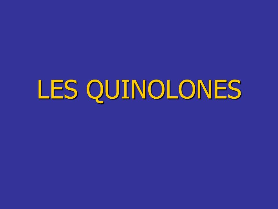 LES QUINOLONES