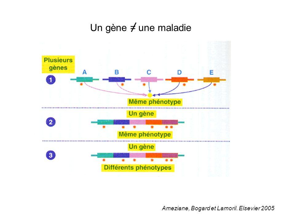 Ameziane, Bogard et Lamoril. Elsevier 2005 Un gène = une maladie