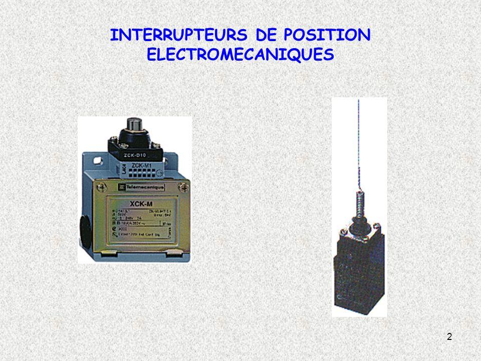 3 Symbole Les interrupteurs de position sont constitués de trois éléments de base suivants: Un contact électrique (1) Un corps (2) Une tête de commande avec son dispositif d attaque (3).