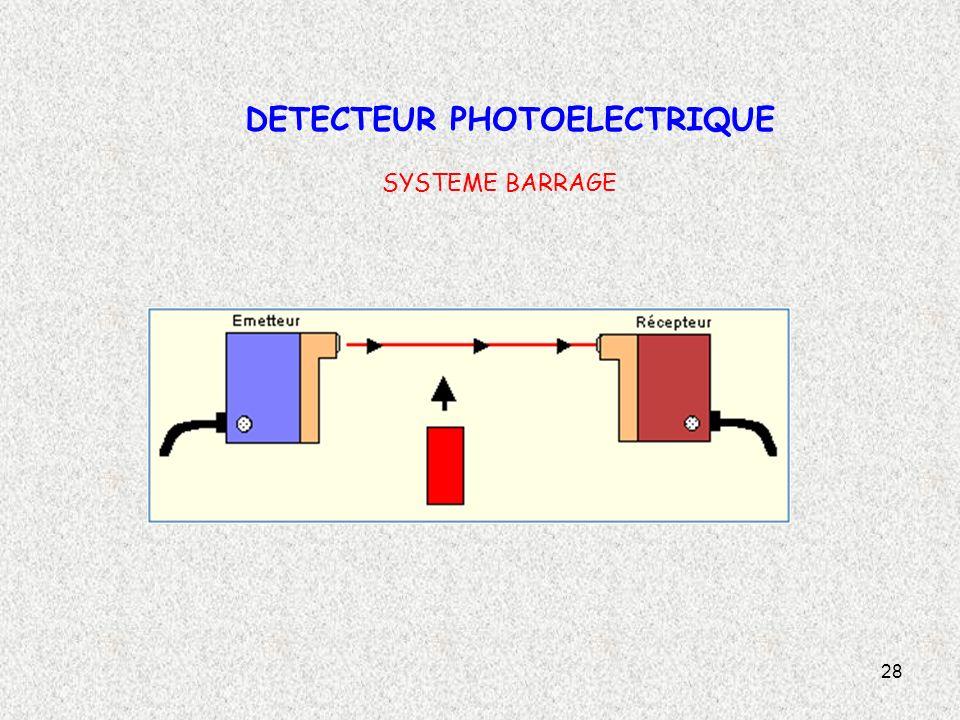 28 DETECTEUR PHOTOELECTRIQUE SYSTEME BARRAGE