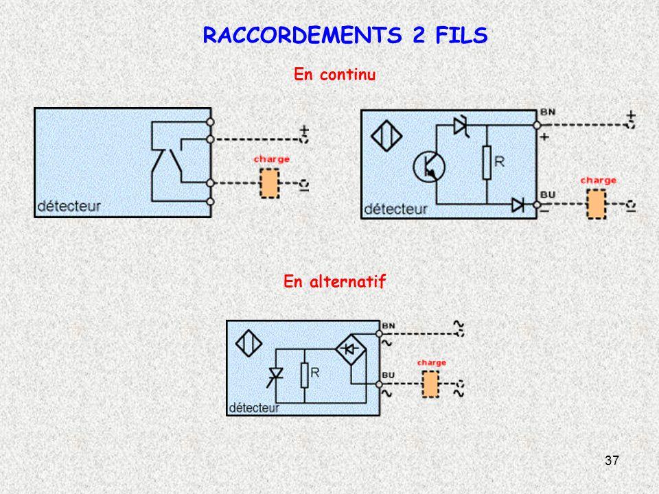 37 RACCORDEMENTS 2 FILS En continu En alternatif