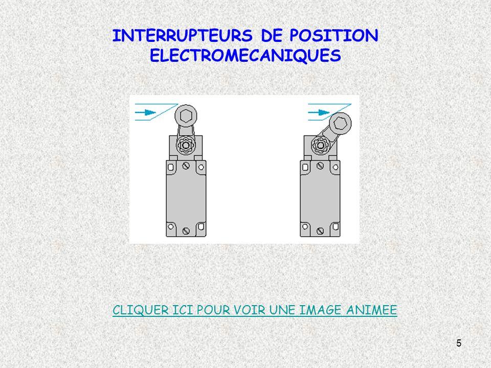 6 INTERRUPTEURS DE POSITION ELECTROMECANIQUES