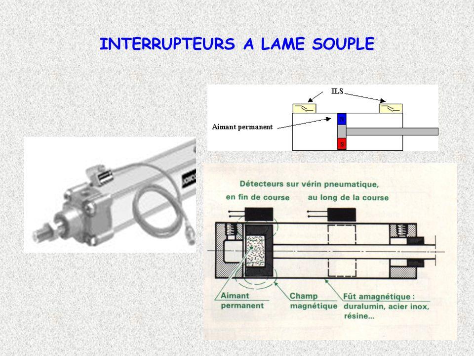 10 INTERRUPTEURS A LAME SOUPLE Principe de fonctionnement: Un interrupteur à lame souple est constitué d un corps (2) à l intérieur duquel est placé un contact électrique métallique souple (1) sensible aux champs magnétiques.