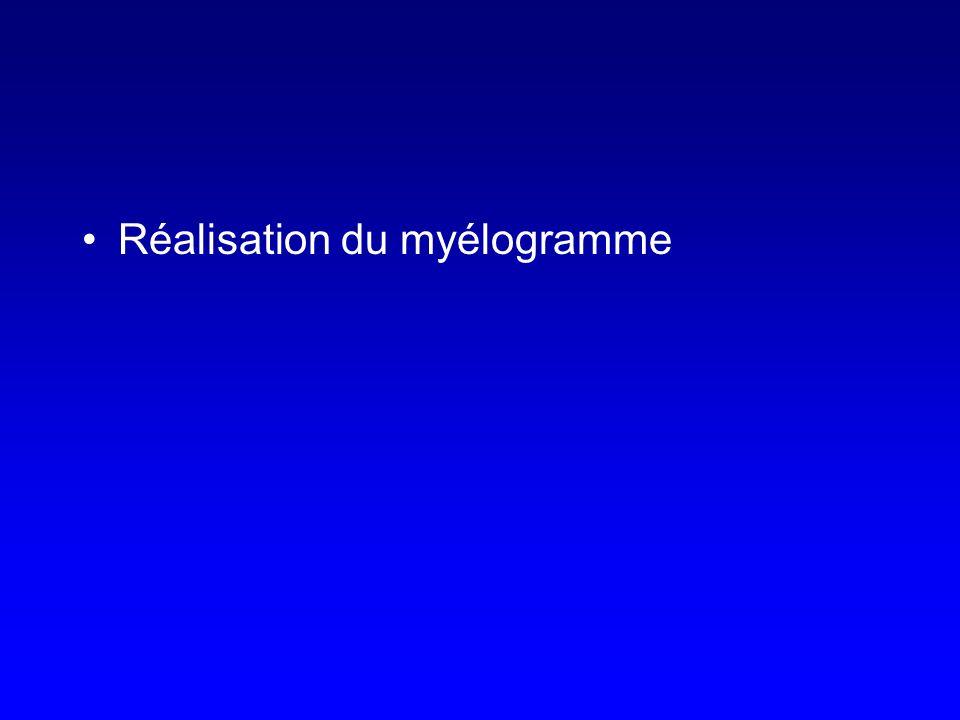 Réalisation du myélogramme