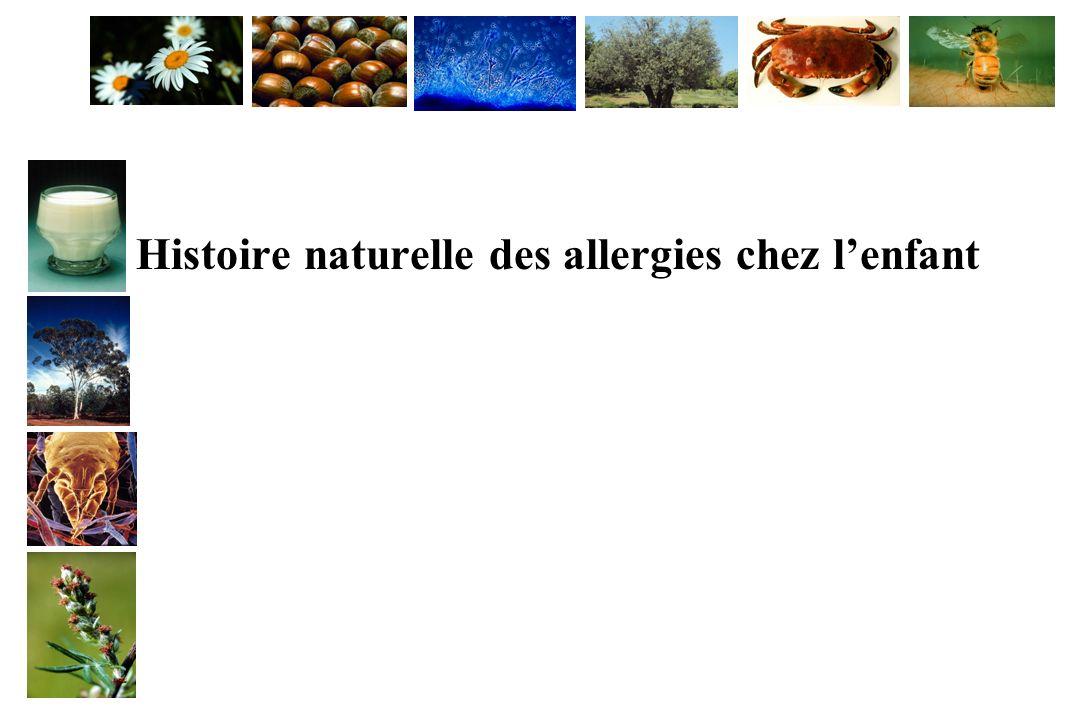 Histoire naturelle des allergies chez lenfant